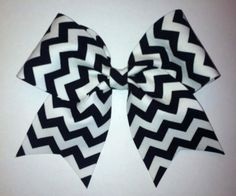 Black and White Chevron Cheer Bow from BowDistrict on Etsy. Saved to Cheer Bows. Cute Cheer Bows, Cheer Hair Bows, Cheer Mom, Big Bows, Softball Bows, Cheerleading Bows, Cheerleader Girls, Softball Cheers, Softball Crafts