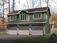 1-Car Garage Apartment, 027G-0007 | MAH AWESOME BOARD | Pinterest ...