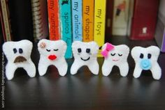tooth puppet craft | Toothy family finger puppets - TOYS, DOLLS AND PLAYTHINGS