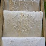 monogrammed French linens from French Vintage Home