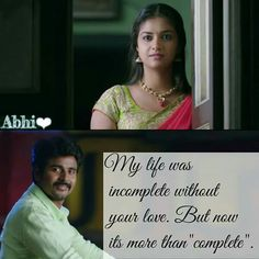 My life was incomplete without your love. Now its more than complete...