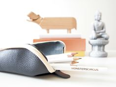 DIY triangle leather pencil case « monsterscircus monsterscircus