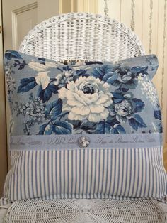 French Country Pillow Cover Shabby Chic by ParisLaundryDesigns
