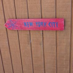 New York Wooden Directional Sign - Spiderman