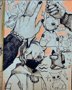 Art Inspiration Drawing, Sketchbook Inspiration, Art Inspo, Cute Art Styles, Cartoon Art Styles, Art Drawings Sketches, Cool Drawings, Arte Sketchbook, Dream Art