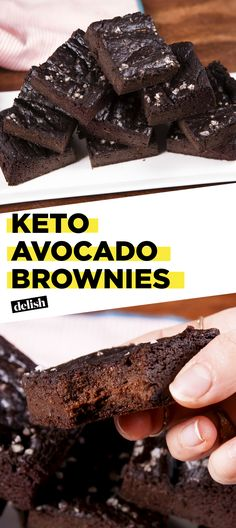 These Keto Avocado Brownies are a MUST for anyone on the keto diet. Get the recipe at Delish.com. #keto #diet #fat #brownie #recipe #delish #easyrecipe #chocolate #avocado #peanutbutter