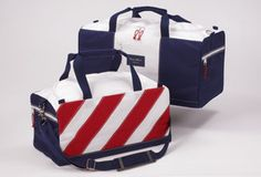 Original and made in the U.S. True Wind sailcloth bags.