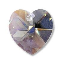 AMETHYST Swarovski Crystal 6202 Heart Pendants SALE 6 PCS