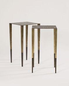 Aurélien Gallet - Maison Gerard | Upaya hand-hammered gilt & patinated bronze | #sidetable #table