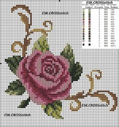 Sewing Stitches For Beginners Cross Stitch Rose, Cross Stitch Borders, Cross Stitch Flowers, Cross Stitching, Cross Stitch Embroidery, Embroidery Patterns, Funny Cross Stitch Patterns, Cross Stitch Designs, Crochet Cross