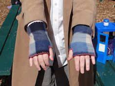Don't Eat the Paste: Super easy hand sewn fleece fingerless mitts tutorial