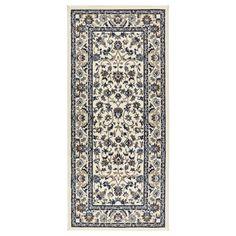 Teppich ikea alvine  LAPPLJUNG RUTA Rug, low pile, white white/black, black | Room ...