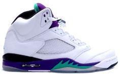 b3531713e6b8ad 136027 108 Air Jordan 5 Retro Grape White New Emerald Grape Ice Black