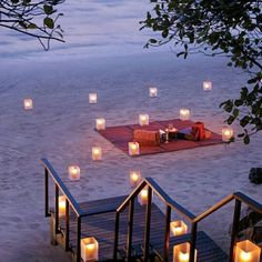 Perfect proposal setup on the beach