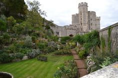 The garden at Windsor castle...used to be the moat!