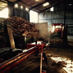 Now there's a bit more of a chill in the air I thought it would be a good time to remind you that we sell logs! Hardwood 110 softwood 90 a mixture of the two 100. Fully seasoned.  A load is 1.6 cubic metres.