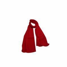 Echarpe Lisa Vermelha de Algodão #echarpes #lenços #lenço #scarf #scarfs