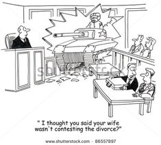Divorce humor, jokes, and cartoons to get you through a tough time. Sometimes humor during a divorce can be the best medicine. Divorce Lawyers, Divorce Humor, Divorce Quotes, Law School Humor, School Memes, Lawyer Humor, Divorce Online, Legal Humor, Divorce Mediation