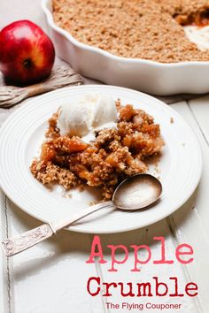 Apple Crumble Recipe. Simple Fall recipe ideas. The Flying Couponer | Family. Travel. Saving Money.