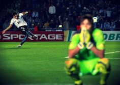 My two fav players, amazing shot, game winning goal Copa America 2011 (Martin Caceres and Fernando Muslera)
