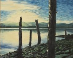 Puntledge Estuary – Oil on Canvas  - paintings by Stephen Cole