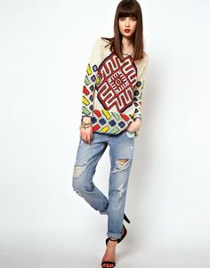 Outstanding Crochet: #Crochet pullover from Asos.