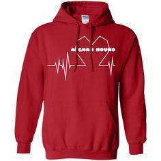 Afghan Hound Heartbeat Hoodies