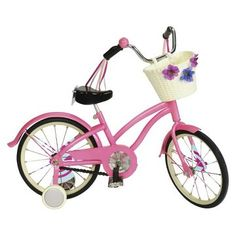 Doll Bike fits American Girl Julie 18 Inch Doll Bicycle Madame Alexander Our Generation Og Dolls, Girl Dolls, Barbie Dolls, Ropa American Girl, Journey Girls, Our Generation Dolls, Bicycle Girl, 18 Inch Doll, Girls Accessories