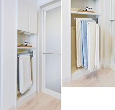 洗面所やトイレならでは収納アイデア | クレバInfo|くらし楽しく快適に賢い住まいのヒント Washroom, Tall Cabinet Storage, Sink, Laundry, Bath, Closet, House, Furniture, Home Decor