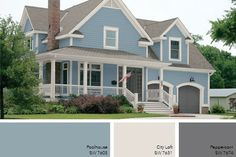 Light Grey Exterior Paint Good Best Ideas About Gray Exterior Houses On Exterior House Lights Exterior Colors With Light Gray Exterior Paint Colors Light Gray Exterior House Paint Exterior House Lights, Exterior House Siding, Exterior Lighting, House Exteriors, Exterior Paint Color Combinations, House Exterior Color Schemes, Exterior Colors, Light Blue Paint Colors, Paint Colors For Home