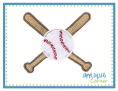 673 Mini embroidery design baseball and crossed bat digital design for embroidery machine by Applique Corner. $4.00, via Etsy.