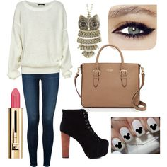 A fashion look from November 2014 featuring J Brand jeans and Jeffrey Campbell boots. Browse and shop related looks.