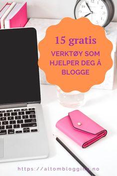 Oversikt over 15 gratis verktøy til blogging. Alt fra planleggingsverktøy og apper, til bilde- og videoredigering og design av innlegg. Jeg har brukt alle selv og har også merket mine favoritter #blogging #bloggtips #nyblogg #blogginnlegg #bloggverktøy #bloggkurs #sosialemedier