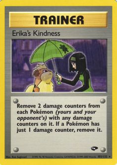Pokémon card from Gym Challenge scan and price information Gym Badges, Cool Pokemon Cards, Gym Leaders, Erika, Super Mario, How To Remove, Challenges, Baseball Cards, Pokémon Cards