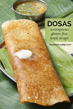 Paleo meals 11329436541204813 - Dosas are a lentil-based wrap-style flatbread that are an excellent bread substitute in a gluten-free diet, as well as being delicious no matter how you eat them. Source by gfshoestring Gf Recipes, Gluten Free Recipes, Indian Food Recipes, Whole Food Recipes, Vegetarian Recipes, Cooking Recipes, Healthy Recipes, Lentil Recipes, Lentil Bread Recipe