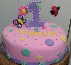 Baby girl fondant cake