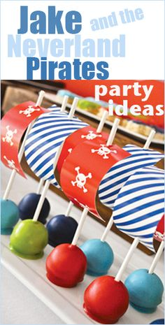Jake and the Neverland Pirates Party Ideas. Great party ideas for your little pirate. Celebrate a boy or girl party with these creative ideas. Fun games, food and decor.