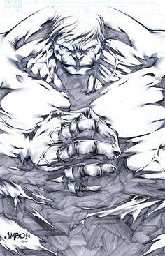 Hulk by Jimbo Salgado ... BADASS!!! °°