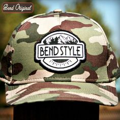 Crowley's Camo Hat is one of our new favorites. Bend Style hats are all over the map. We rarely reprint the same hats twice, which makes the 12 we've created limited edition. If you see one you like, get it quick, because they go fast!