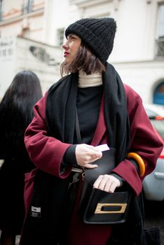Paris Fashion Week Street Style 2016 | Beanie style [Photo: Kuba Dabrowski]