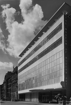 International Style of architecture sought to remove all traces of decoration, ornamentation and symbolism from buildings.   Museum of Modern Art, New York, NY. Philip L. Goodwin and Edward Durell Stone, Architects, 1939. Robert Damora, Photographer, 1939.