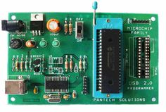USB PIC programmer with In-Circuit Debugger. It supports 574 Microchip MCUs including PIC10, PIC12, PIC16, PIC18, dsPIC30/33, PIC24 and PIC32.
