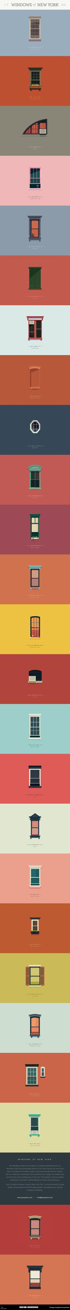 Windows of New York #website #graphics #illustration