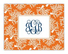 The design on this card is pre-set and available only as shown. Stationery is priced to include up to one line of copy. Monograms and initials are considered one line. When customizing, please note that only three ink colors may be selected for your personalization. Printing in four or more ink colors is available for an additional charge. Please inquire with customer service for details. This card features a top-fold upon which customization appears on the front panel only and includes…