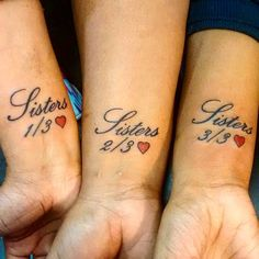 55 Eloquent Sibling Tattoo Ideas- Show The World Your Special Connection Check more at http://tattoo-journal.com/best-sibling-tattoo-designs-meaning/