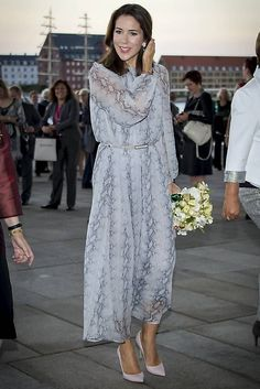 On September 13, Crown Princess Mary bearing the title of being the patron of WHO Europe Regional Committee meeting attended a reception at Copenhagen Opera House, which is in connection with the meeting of Europe 66th Regional Committee.