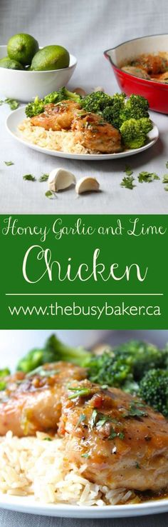 The Busy Baker: HoneThe Busy Baker: Honey Garlic and Lime Chicken Easy Chicken Recipes, Turkey Recipes, Easy Dinner Recipes, Chicken Meals, Healthy Chicken, Easy Recipes, Dinner Ideas, Food Dishes, Main Dishes