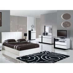 Modrest San Marino Modern Grey Bedroom Set | Grey bedroom set and ...