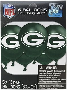 Amscan MLB Green Bay Packers Party Team Logo Balloon Decoration >>> Details can be found by clicking on the image.