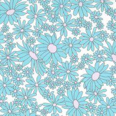 Daisies Aqua on White | Kei Fabrics | Fabrics to Inspire - Kelani Fabric use for lamp shade